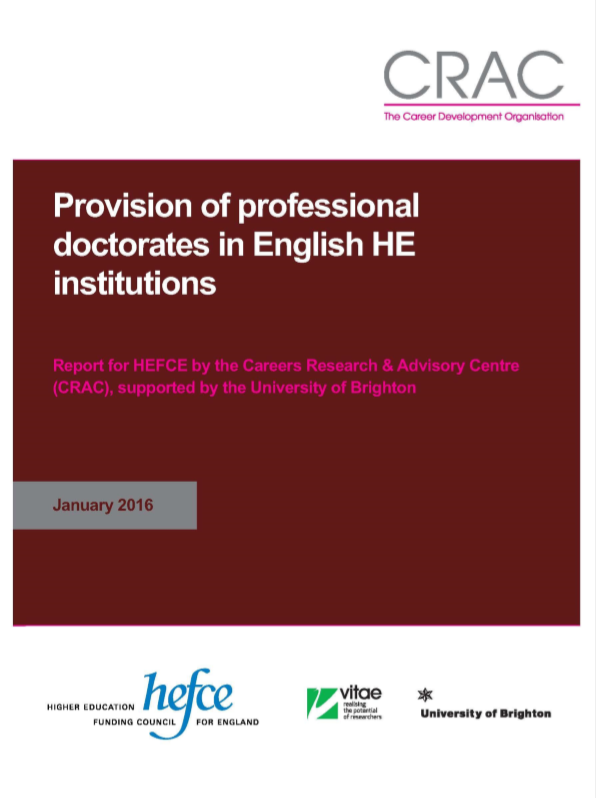 Provision of Professional Doctorate programmes in English HE institutions