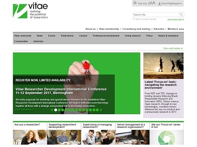 Link to Vitae website
